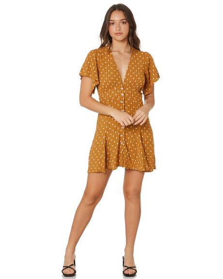 GOLDEN POLKA DOT WOMENS CLOTHING RUE STIIC DRESSES - SW-21-13-1-GPDR