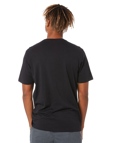 BLACK MENS CLOTHING HURLEY TEES - MTSPFLNGH010