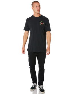 BLACK MENS CLOTHING VOLCOM TEES - A504183GBLK