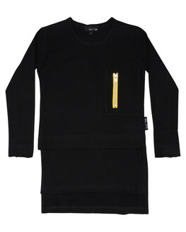 BLACK YELLOW OUTLET KIDS LIL MR CLOTHING - LM-LUXEBLKY