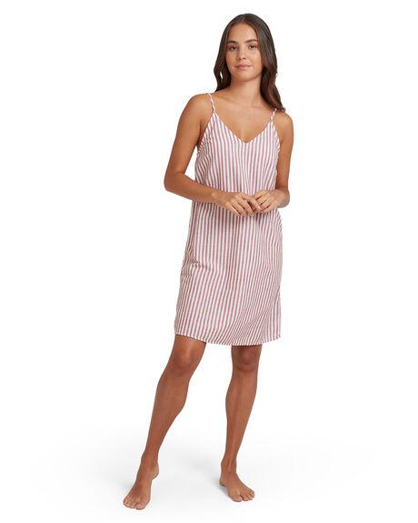 BRIGHT WHITE AUBURN WOMENS CLOTHING ROXY DRESSES - URJWD03081-WBB3