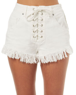 WHITE WOMENS CLOTHING SOMEDAYS LOVIN SHORTS - SL1706933WHT