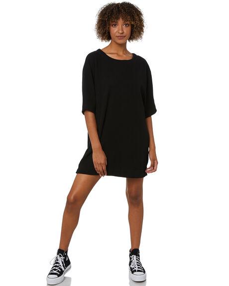 BLACK WOMENS CLOTHING THRILLS DRESSES - WTW21-910BBLK