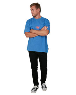 DAZZLING BLUE MENS CLOTHING QUIKSILVER TEES - EQYZT05810-PPM0