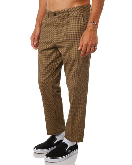 KHAKI MULTI MENS CLOTHING OBEY PANTS - 142020114KHA