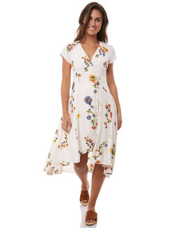WHITE WOMENS CLOTHING FREE PEOPLE DRESSES - OB7701131100