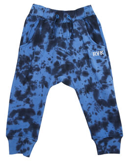 BLUE TIE DYE KIDS TODDLER BOYS ROCK YOUR BABY PANTS - TBP1819-CEBLUTD