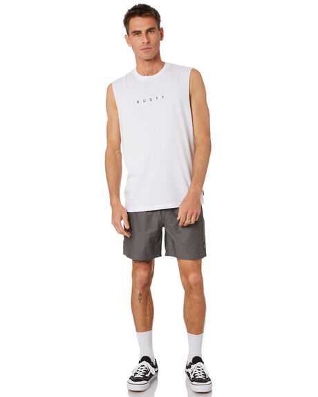 WHITE MENS CLOTHING RUSTY SINGLETS - MSM0270WHT