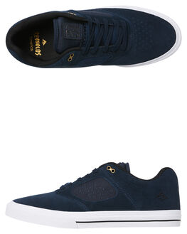 NAVY WHITE MENS FOOTWEAR EMERICA SKATE SHOES - 6102000122-472