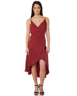 BURGUNDY WOMENS CLOTHING JORGE DRESSES - 8320054BURG