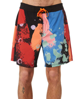 BLACK OUTLET MENS MISFIT BOARDSHORTS - MT091607BLK