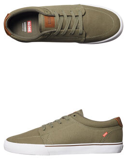 BURNT OLIVE MENS FOOTWEAR GLOBE SKATE SHOES - GBGS-19966