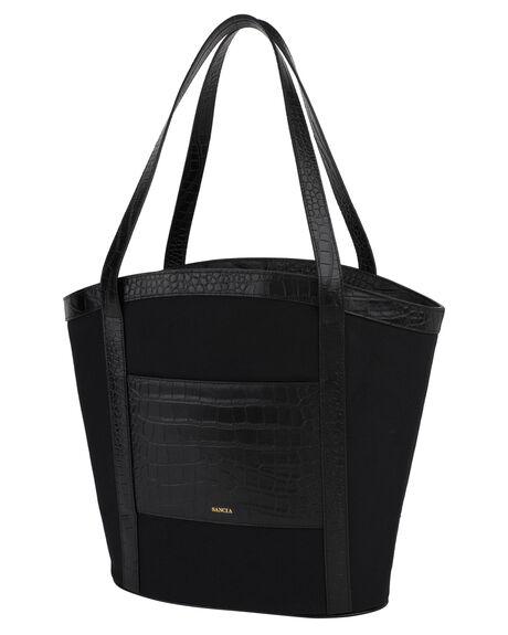 BLACK CROC WOMENS ACCESSORIES SANCIA BAGS + BACKPACKS - 170B-BDBLK