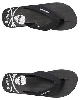 BLACK MENS FOOTWEAR KUSTOM THONGS - 4984236BLK