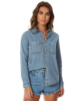 WILD CHILD WOMENS CLOTHING A.BRAND FASHION TOPS - 70829BLUES