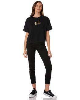 BLACK WOMENS CLOTHING RPM TEES - 9WWT02C2BLK
