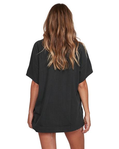 WASHED BLACK WOMENS CLOTHING BILLABONG TEES - BB-6504007-WAA