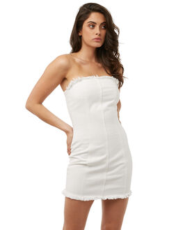 WHITE WOMENS CLOTHING MINKPINK DRESSES - MD1703951WHITE