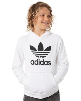 WHITE BLACK KIDS BOYS ADIDAS JUMPERS + JACKETS - DH2667WHTBL
