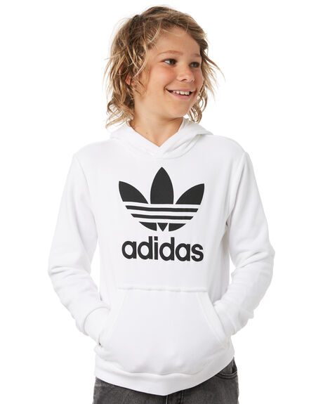 e91720ee5dd9 WHITE BLACK KIDS BOYS ADIDAS JUMPERS + JACKETS - DH2667WHTBL