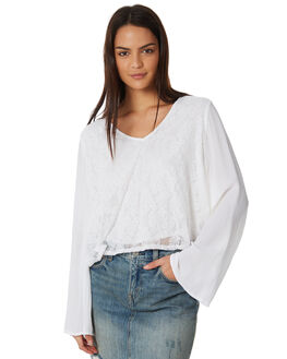 WHITE OUTLET WOMENS ALL ABOUT EVE FASHION TOPS - 6423037WHT