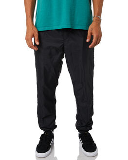 BLACK MENS CLOTHING OBEY PANTS - 142020112BLK