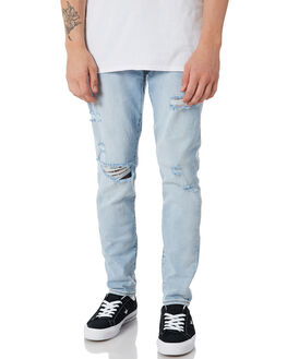 POINT BREAK BLUES DISTRESSED MENS CLOTHING ZIGGY JEANS - ZM-1222POINT