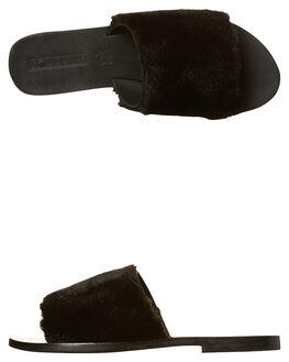 BLACK WOMENS FOOTWEAR SOL SANA FLATS - SS172W365BLK