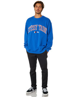 ROYAL BLUE MENS CLOTHING STUSSY JUMPERS - ST095206RYBLU