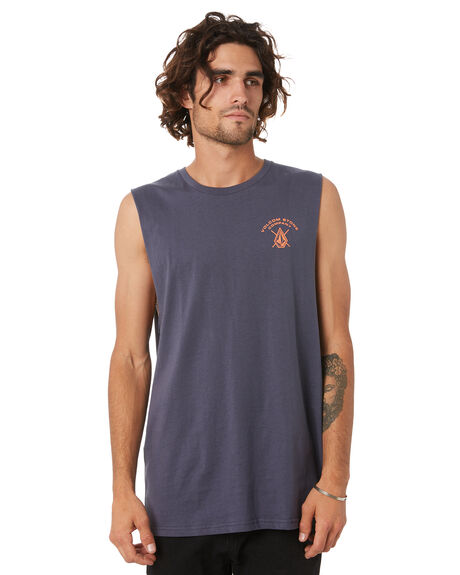 VINTAGE NAVY MENS CLOTHING VOLCOM SINGLETS - A4502027VNVY
