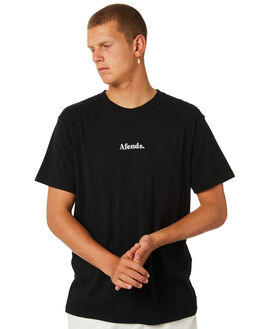 BLACK MENS CLOTHING AFENDS TEES - M184015BLK