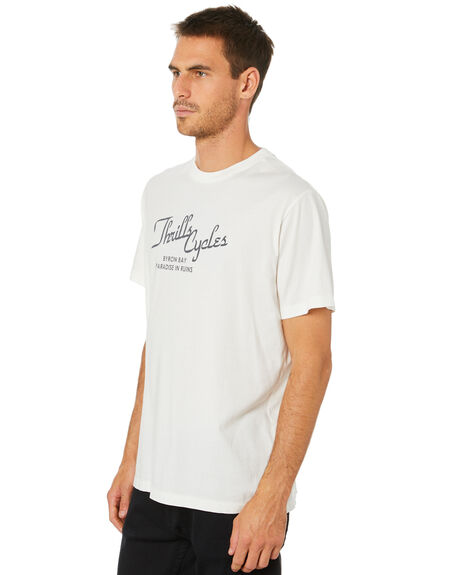 DIRTY WHITE MENS CLOTHING THRILLS TEES - TW20-117ADTWHT