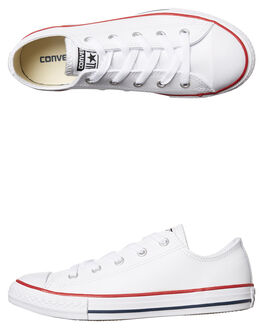 WHITE KIDS BOYS CONVERSE SNEAKERS - 335892WHI