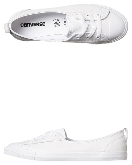 7a4ccd051f2 Converse Ballet Lace Leather Slip Shoe - White