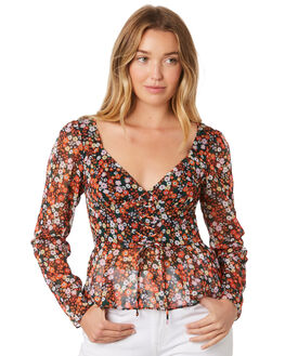 PASSIONA FLORAL WOMENS CLOTHING THE EAST ORDER FASHION TOPS - EO190506TPASFL