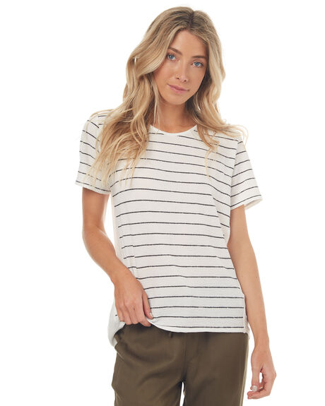 WHITE STRIPE WOMENS CLOTHING SWELL TEES - S8171004WHTST