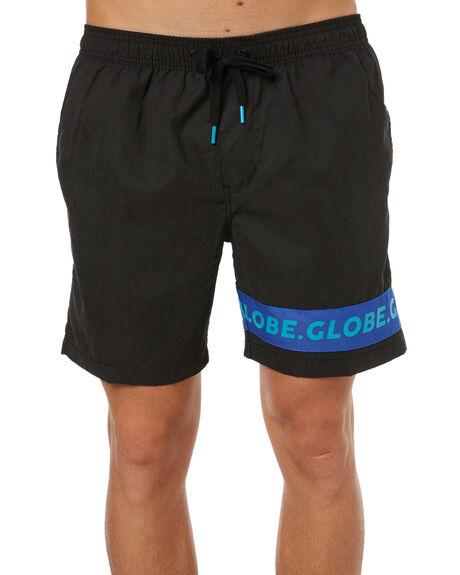 BLACK MENS CLOTHING GLOBE BOARDSHORTS - GB01728004BLK
