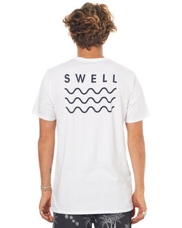 WHITE BLACK OUTLET MENS SWELL TEES - S5164013WHT
