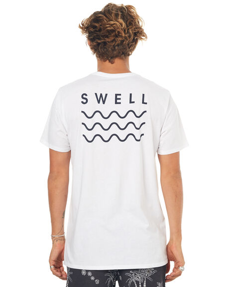 WHITE BLACK MENS CLOTHING SWELL TEES - S5164013WHT