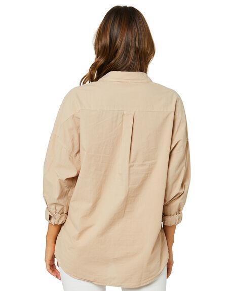 MOCHA WOMENS CLOTHING NUDE LUCY FASHION TOPS - NU24108MOCHA