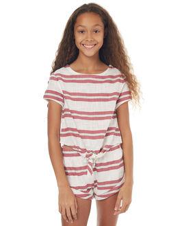 WHITE KIDS GIRLS BILLABONG FASHION TOPS - 5572091WHT