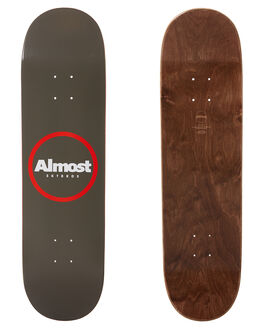 WARM GREY BOARDSPORTS SKATE ALMOST DECKS - 100231173WGRY