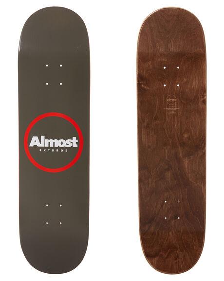 WARM GREY BOARDSPORTS SKATE ALMOST DECKS - 100231173WGRY