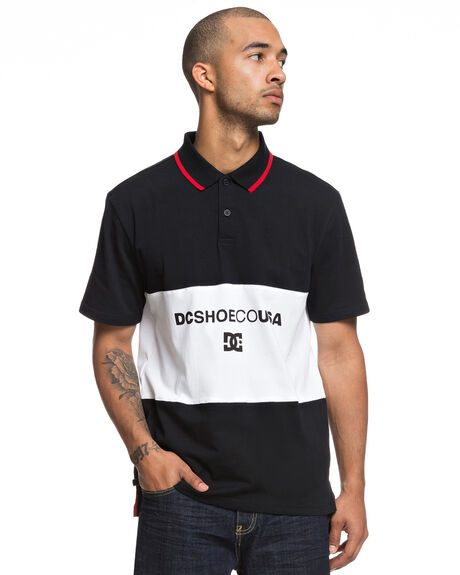 BLACK MENS CLOTHING DC SHOES SHIRTS - EDYKT03430KVJ0