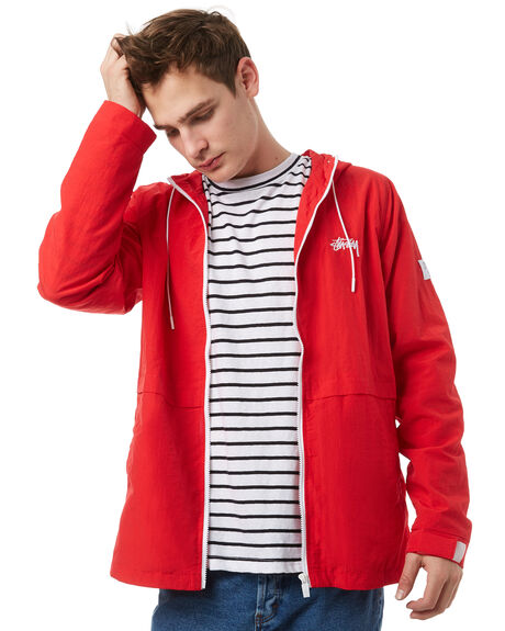 RED MENS CLOTHING STUSSY JACKETS - ST071500RED