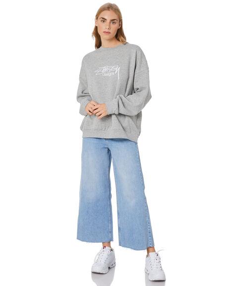 GREY MARLE WOMENS CLOTHING STUSSY JUMPERS - ST106315GREYML