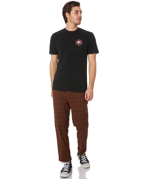 BLACK RED MENS CLOTHING BRIXTON TEES - 06519BKRED