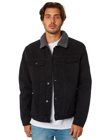 Black Mens Denim Jacket Designer Jackets