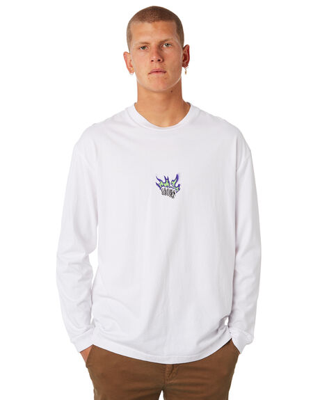 WHITE MENS CLOTHING GLOBE TEES - GB01810042WHT