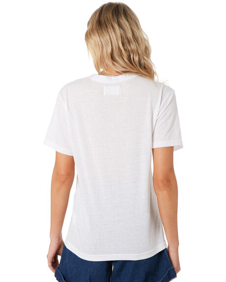 WHITE WOMENS CLOTHING ROLLAS TEES - 13201WHI